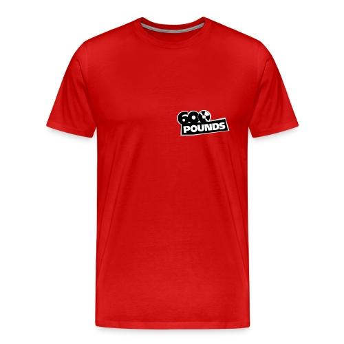 Großes Shirt mit kleinem S/W-Logo vorne und großem hinten - Männer Premium T-Shirt