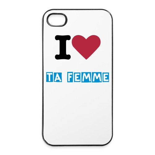 I love TA femme BASIC ONE - Coque rigide iPhone 4/4s