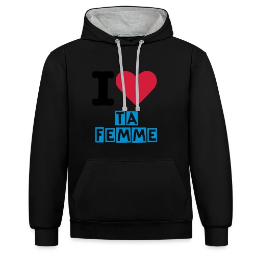 I love TA femme BASIC ONE - Sweat-shirt contraste