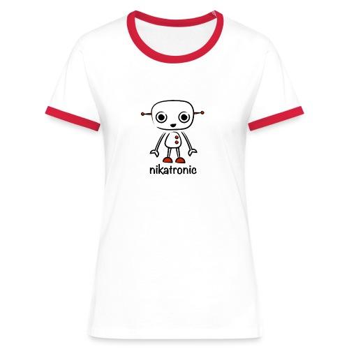 nikatronic retro red - Women's Ringer T-Shirt