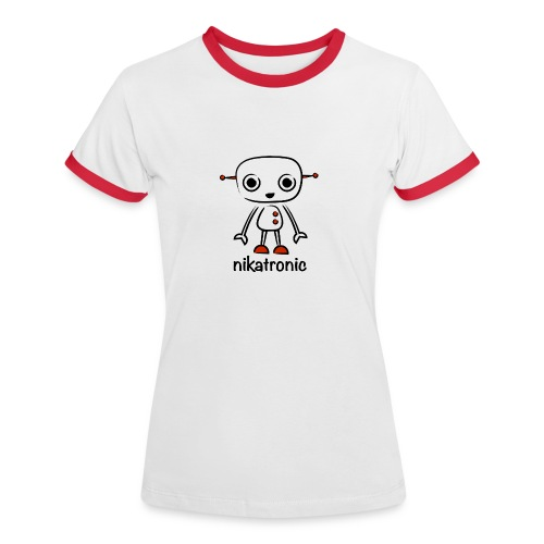 nikatronic retro red - Women's Ringer T-Shirt