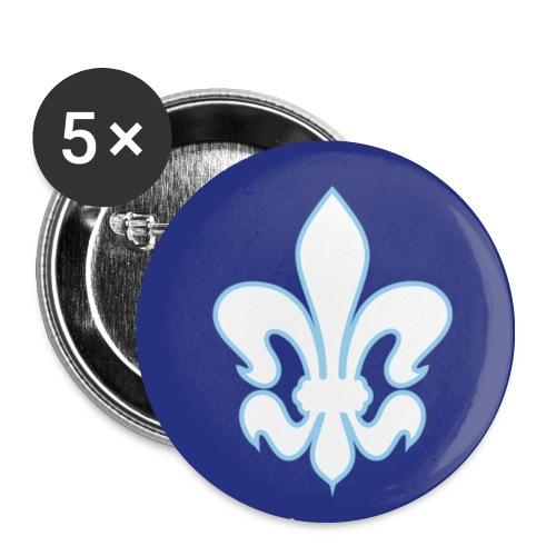 Button-Set Lilie, royalblau - Buttons mittel 32 mm