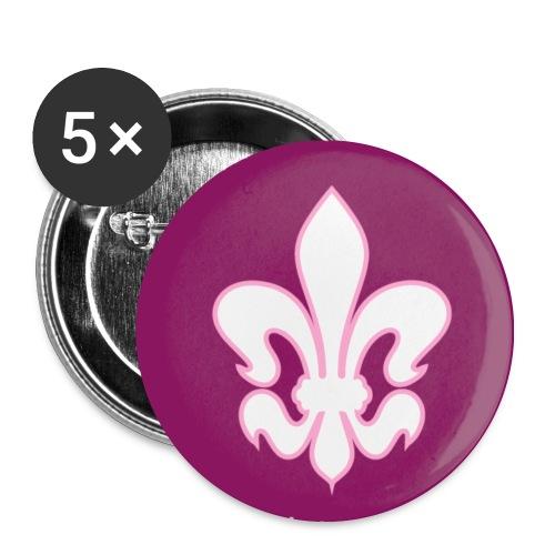 Button-Set Lilie, purpur - Buttons mittel 32 mm