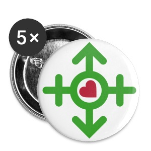 Love United Symbol (2c) - Buttons mittel 32 mm