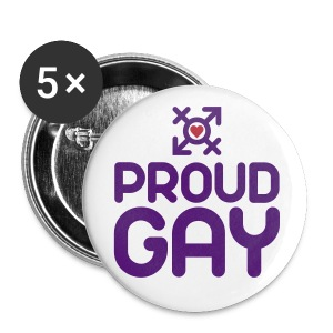 Proud Gay (2c) - Buttons mittel 32 mm