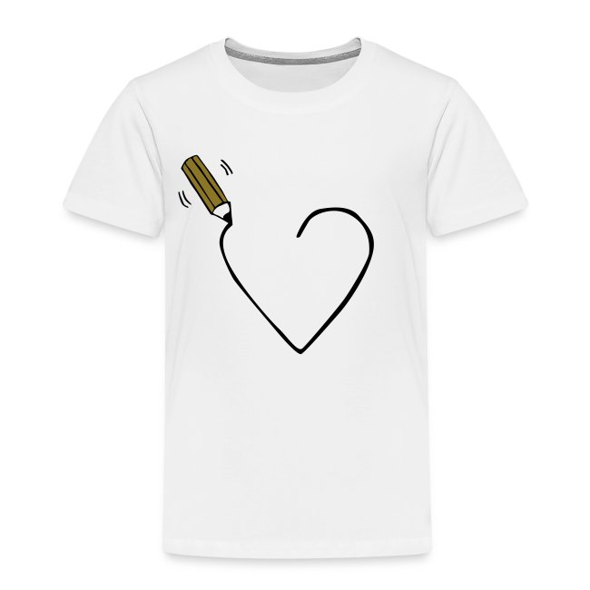 Loveshirts Ulrike Hirsch Loveshirt Heart Drawing Kinder