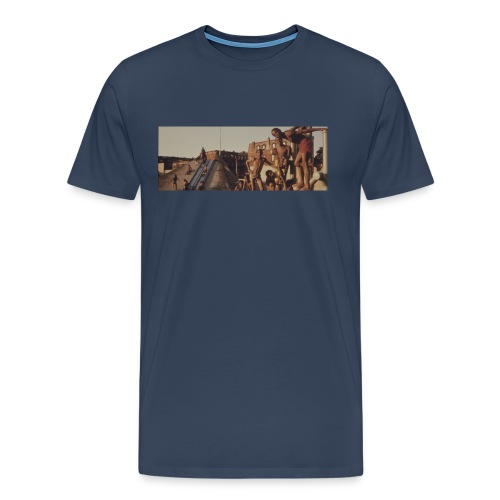 Brooklyn Neck-Logo - Männer Premium T-Shirt