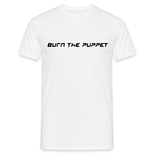 Burn the Puppet White/Black Stedman - Men's T-Shirt