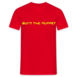 Burn the Puppet Red/Yellow Stedman - Men's T-Shirt