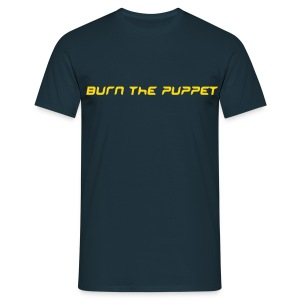 Burn the Puppet Navy/Yellow Stedman - Men's T-Shirt