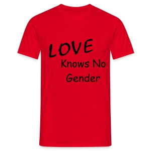 Love knows no gender t-shirt - Men's T-Shirt