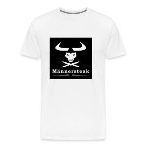 Männersteak T-Shirt schwarz weiss - Männer Premium T-Shirt