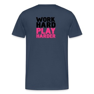 t-shirt blauw - Mannen Premium T-shirt