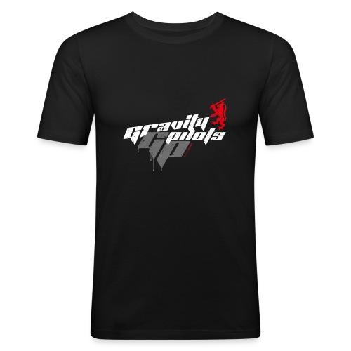 Männer Slim Fit T-Shirt - Männer Slim Fit black Motiv Schriftzug