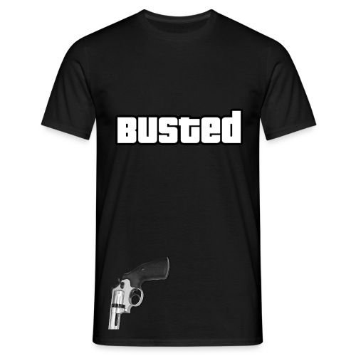 GTA V Busted With Pistol T-Shirt (JaffaGames) - Mannen T-shirt