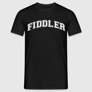 fiddler college style curved logo - Men's T-Shirt