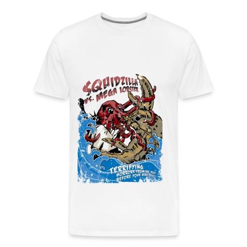 squid vs mega lobster - Men's Premium T-Shirt