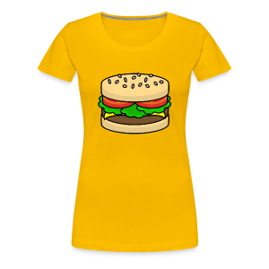 Food: Hamburger - Frauen Premium T-Shirt