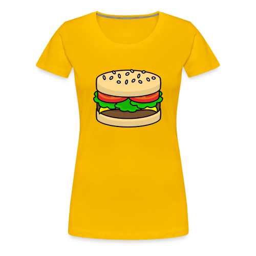 Food: Hamburger - Frauen Premium T-Shirt