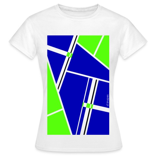Blocks Blue/Green - Woman T-shirt - Maglietta da donna