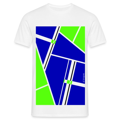 Blocks Blue/Green - Man T-shirt   - Maglietta da uomo