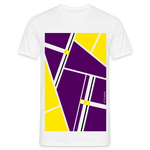 Blocks Yellow/Purple - Man T-shirt   - Maglietta da uomo