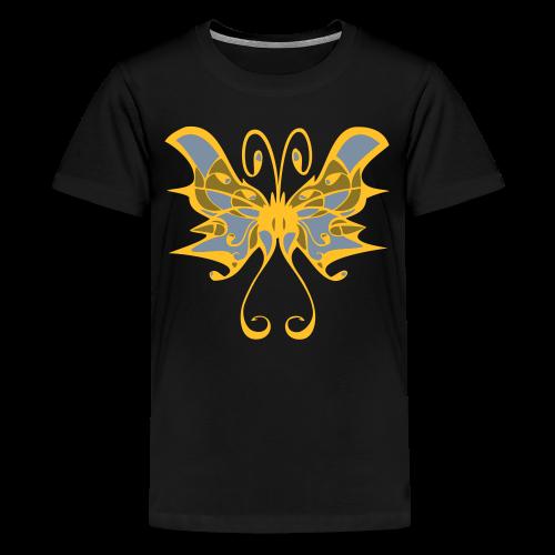 TIAN GREEN Shirts Teen -  Schmetterling - Teenager Premium T-Shirt