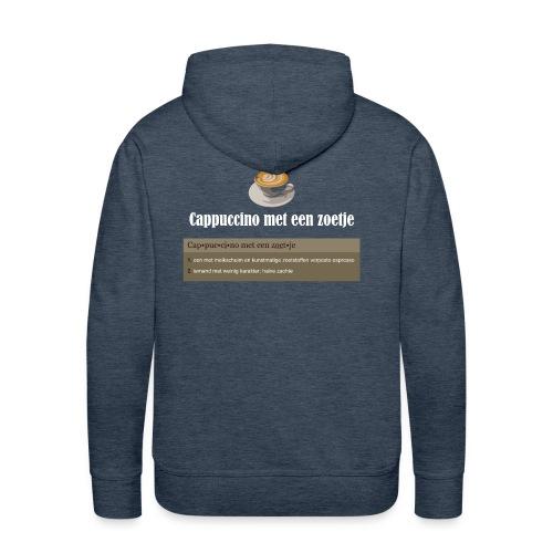 Cappuccino met een zoetje hoodie - Mannen Premium hoodie
