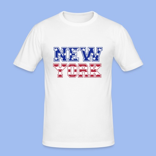SHIRT NEW YORK - Männer Slim Fit T-Shirt