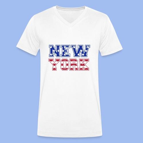 SHIRT NEW YORK - Männer Bio-T-Shirt mit V-Ausschnitt von Stanley & Stella