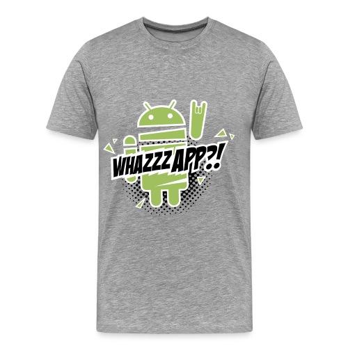 Android Whazzzapp - Maglietta Premium da uomo
