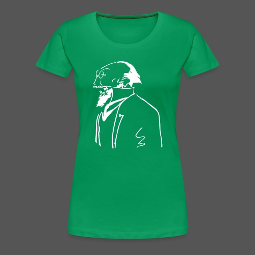Satie Sketch Girl Green - Women's Premium T-Shirt