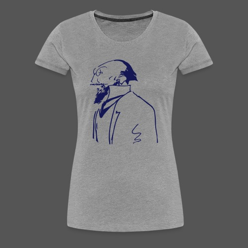Satie Sketch Girl Grey - Women's Premium T-Shirt