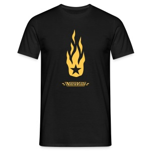 NITROVILLE official t-shirt firebrand version - Men's T-Shirt