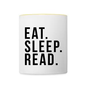 Eat. Sleep an Read mug - Contrasting Mug