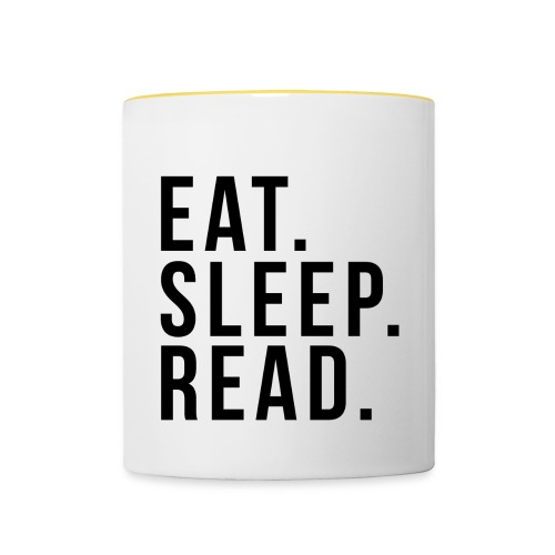 Eat. Sleep an Read mug - Contrasting Mug