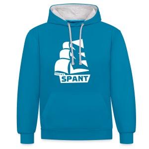 Blauwe hoodie groot logo - Contrast hoodie