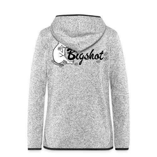 Vrouwen hoodie fleecejack - fluweelachtige opdruk