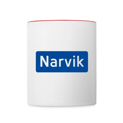 Narvik veiskilt - Tofarget kopp
