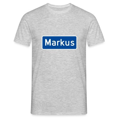 Markus veiskilt - T-skjorte for menn