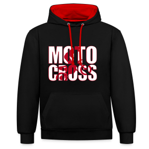 Motocross shadow - Sweat-shirt contraste