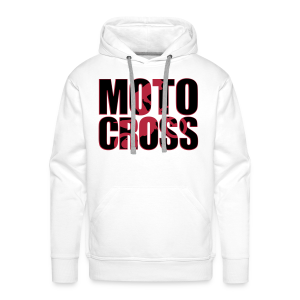 Motocross shadow - Sweat-shirt à capuche Premium pour hommes