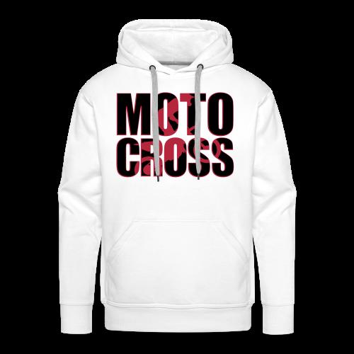 Motocross shadow - Sweat-shirt à capuche Premium pour hommes