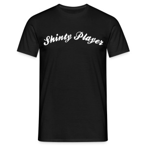 shinty player cool curved logo - Men's T-Shirt