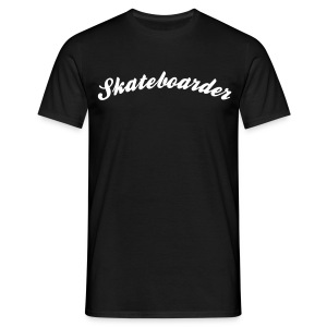 skateboarder cool curved logo - Men's T-Shirt