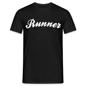 runner cool curved logo - Men's T-Shirt