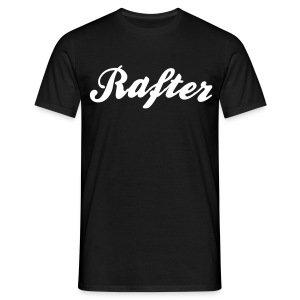rafter cool curved logo - Men's T-Shirt