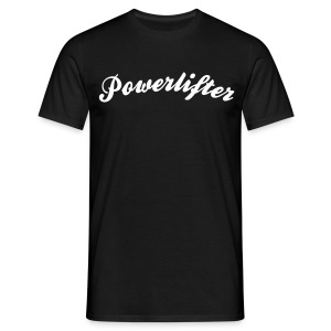 powerlifter cool curved logo - Men's T-Shirt