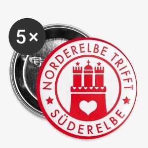 NEU - 32 mm! Norderelbe trifft Süderelbe Künstlergruppe Button - Buttons mittel 32 mm
