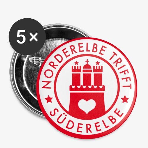 Norderelbe trifft Süderelbe Künstlergruppe Button - Buttons groß 56 mm